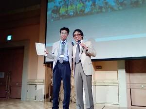 2013.6.29抗加齢医学会懇親会。堀口先生表彰.坪田先生